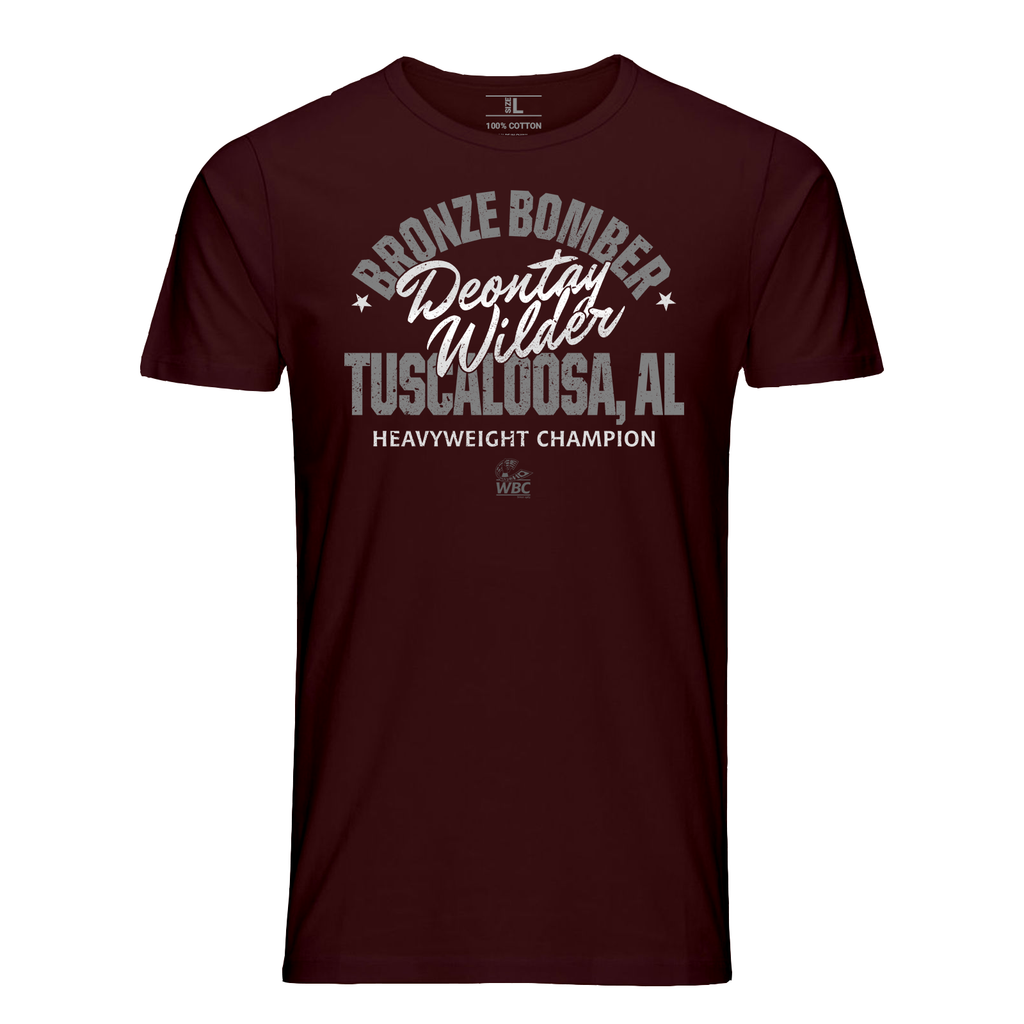 Deontay Wilder Bronze Bomber Crown T-Shirt Maroon
