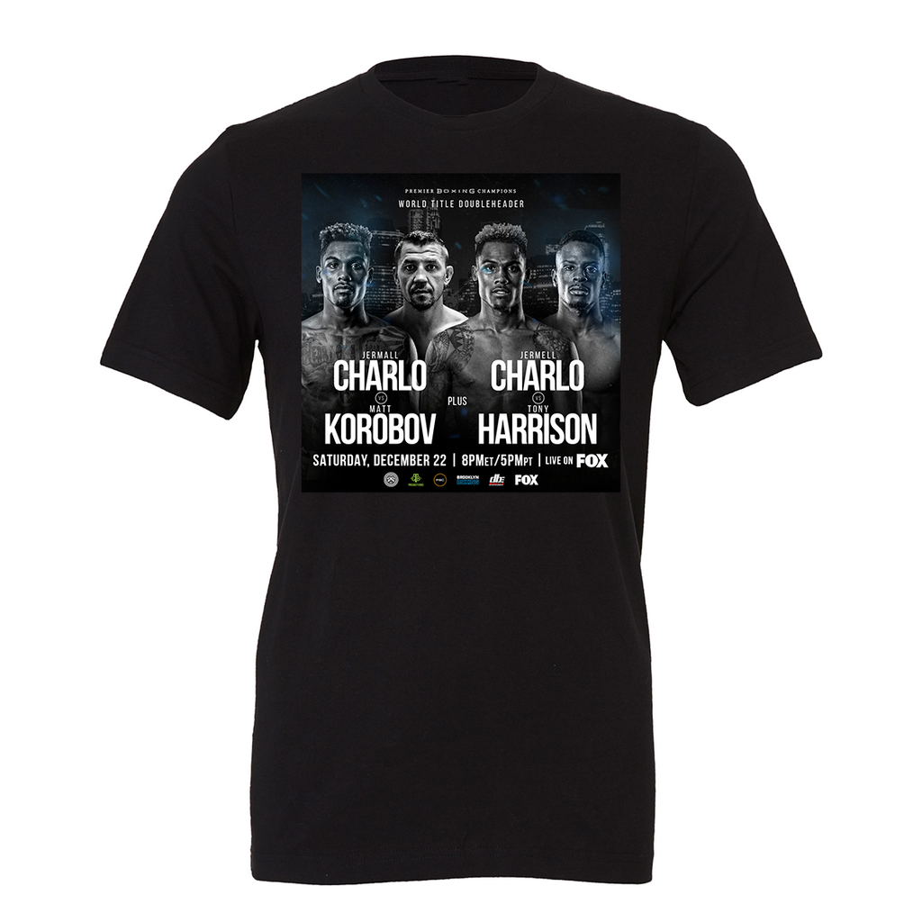 Charlo Vs Korobov Event T-Shirt Black