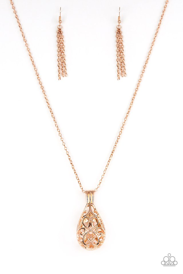 Paparazzi Magic Potions Rose Gold Heart Filigree 3 Dimensional Penda Online Jewelry Addicts