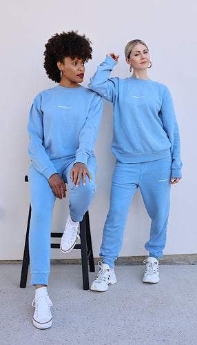 Powder Blue Social Sweat Pants