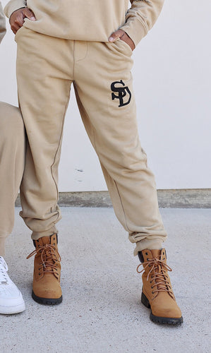 Tan Social Sweat Pants