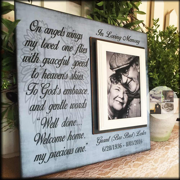 Christian Sympathy Message on a Memory Picture Frame | MemoryScapes - Memory Scapes
