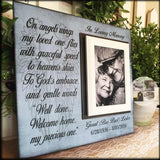 Christian Sympathy Message on a Memory Picture Frame | MemoryScapes - MemoryScapes Personalized and Customized Picture Frame