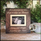 Your Presence We Miss Bereavement Picture Frame | MemoryScapes - MemoryScapes Personalized and Customized Picture Frame