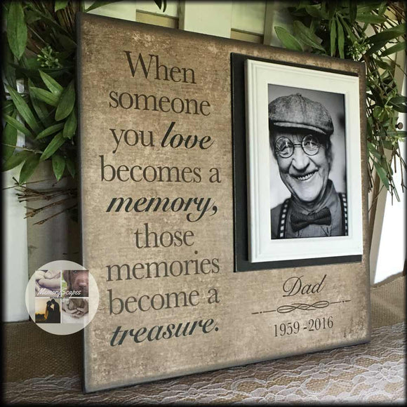 Bereavement Gift Idea Customized Memory Picture Frame | MemoryScapes - Memory Scapes