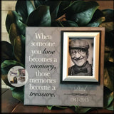 "When Someone You Love 4""x6"" Photo Bereavement Gift Idea Customized Memory Picture Frame 