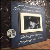 Loving You Always, Forgetting You Never Sympathy Gift | MemoryScapes - MemoryScapes Personalized and Customized Picture Frame