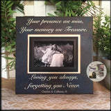 Your Presence We Miss Sympathy Picture Frame | MemoryScapes - MemoryScapes Personalized and Customized Picture Frame