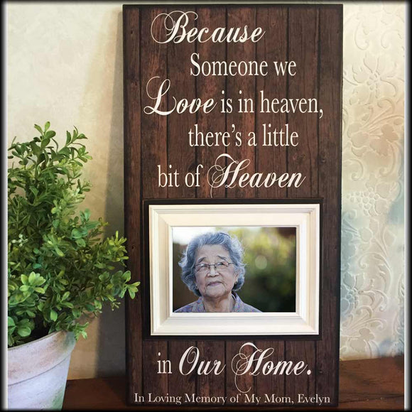 Memorial Frame | Bereavement Gift | Personalized Frame | Because Someone We Love | Memory Frame | Remembrance Table | Funeral Gift - Memory Scapes