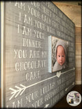 New Baby Gift | New Baby Picture Frame | New Baby Hospital Gift | Gift Box For New Mom Item Idea | New Baby Gifts 2017 - MemoryScapes Personalized and Customized Picture Frame