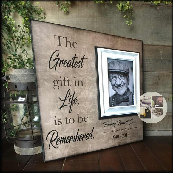 Picture Frame Gift for Funeral Other Than Flowers | MemoryScapes - Memory Scapes