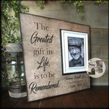 Picture Frame Gift for Funeral Other Than Flowers | MemoryScapes - MemoryScapes Personalized and Customized Picture Frame