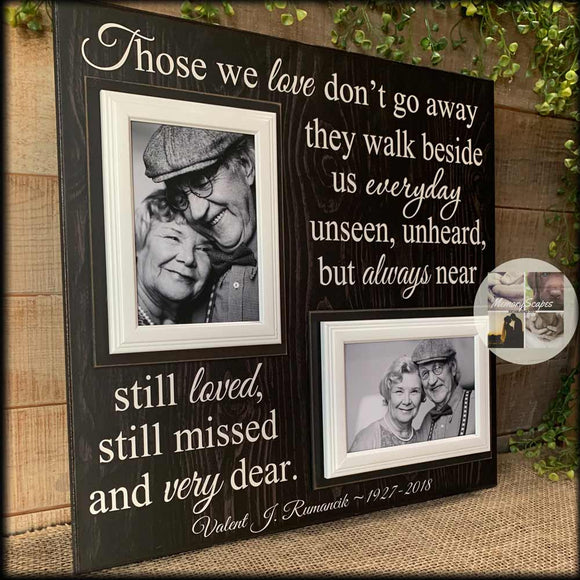 Grandparents Bereavement Gift | Spouse Condolence Gift | Memorial Picture Frame | Wife Remembrance | Personalized Picture Frame - MemoryScapes Personalized and Customized Picture Frame