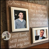 Loss of Two Bereavement Gift | Double Loss Condolence Gift | Memorial Picture Frame | Parents Remembrance | Personalized Picture Frame - MemoryScapes Personalized and Customized Picture Frame