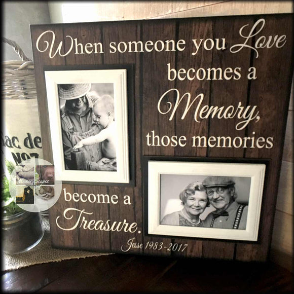 Those Memories Become a Treasure | Loss of Husband Frame Condolence Gift Idea | MemoryScapes - Memory Scapes