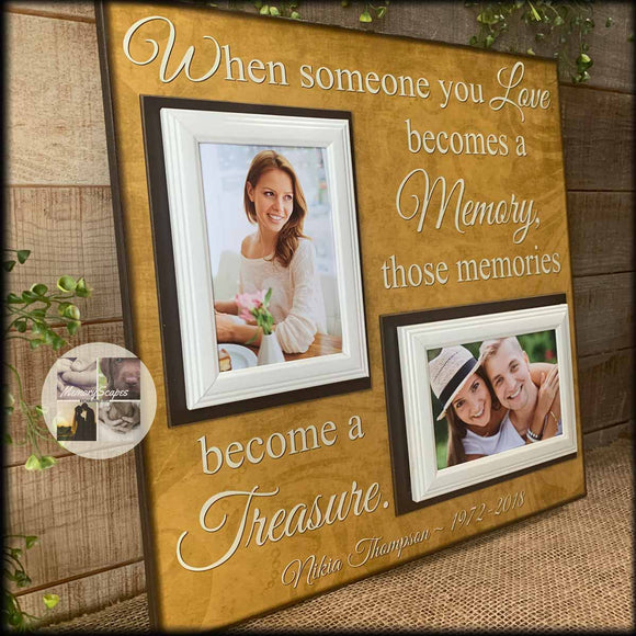 Celebration of Life Picture Frame Gift Ideas For Memorial Wake Funeral | MemoryScapes - MemoryScapes Personalized and Customized Picture Frame