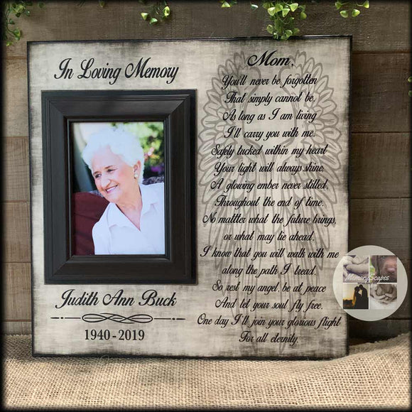 You'll Never be Forgotten Picture Frame Gift for Funeral Other Than Flowers | MemoryScapes - MemoryScapes Personalized and Customized Picture Frame