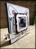 MEOW Cat Frame | Cat Lover Photo Frame | Kitten Picture Frame | Whiskers & Ears - MemoryScapes Personalized and Customized Picture Frame