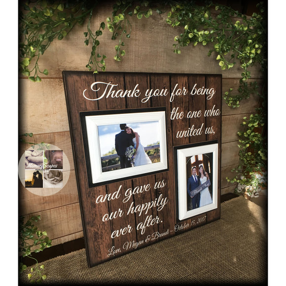 Wedding Officiant Thank You Gift | Officiant Picture Frame | Wedding Party Gifts | United Us | Married Us - MemoryScapes Personalized and Customized Picture Frame