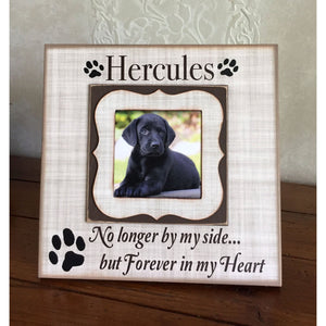 Pet Loss Gift | Loss of Pet Frame | Dog Memorial Picture Frame | Personalized Dog Frame | Dog Sympathy | Pet Remembrance Gift For Friend - MemoryScapes Personalized and Customized Picture Frame
