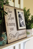 New Grandparent | Unique Gift For Grandparents | First Grandchild Frame | Grandpa Gifts | Grandmother Art Gift | New Baby | Grandfather Gift - Memory Scapes