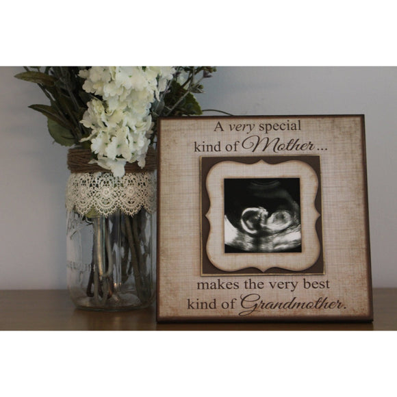 Grandmother Pregnancy Reveal ~ Sonogram Photo ~  Sonogram Picture Frame ~ Grandma To Be Gift ~ Reveal Pregnancy to Mom ~ New Baby Frame - MemoryScapes Personalized and Customized Picture Frame