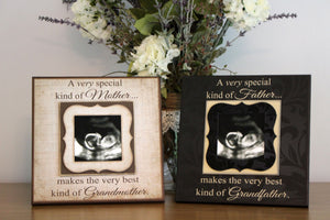 Grandparents Pregnancy Reveal ~ Sonogram Photo ~  Picture Frame ~ To Grandma and Grandpa ~Reveal to Mom ~New Baby Announcement ~ DuoPack - MemoryScapes Personalized and Customized Picture Frame