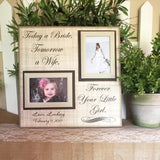 Gift From Bride To Parents ~ Father of the Bride Gift ~ Mother of the Bride~ Thank You Gift ~ Mother Daughter Wedding ~ Parents of the Bride - MemoryScapes Personalized and Customized Picture Frame