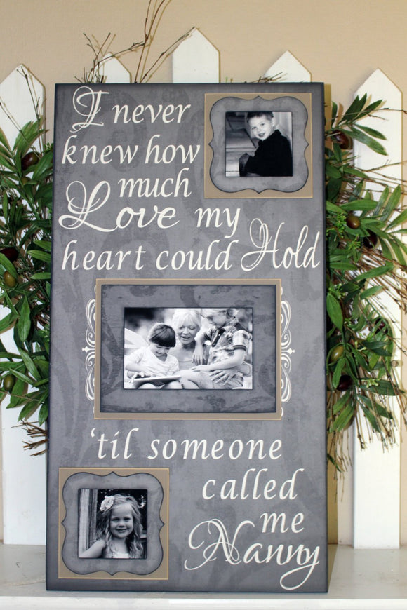 I Never Knew How Much Love My Heart Could Hold Picture Frame ~Grandparents Photo Frame ~Grandkids Picture Frames ~Gifts for Grandparents - Memory Scapes