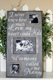 I Never Knew How Much Love My Heart Could Hold Picture Frame ~Grandparents Photo Frame ~Grandkids Picture Frames ~Gifts for Grandparents - MemoryScapes Personalized and Customized Picture Frame