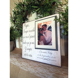 Spanish PAPI Wedding Thank You Gift ~ Father of the Bride ~ Personalized Wedding Frame - Memory Scapes