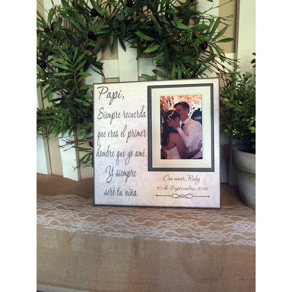 Spanish PAPI Wedding Thank You Gift ~ Father of the Bride ~ Personalized Wedding Frame - MemoryScapes Personalized and Customized Picture Frame