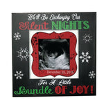 CHRISTMAS PREGNANCY REVEAL idea ~ Sonogram Photo ~ Sonogram Picture Frame ~Baby Reveal Idea to Parents~ Reveal to Family - MemoryScapes Personalized and Customized Picture Frame