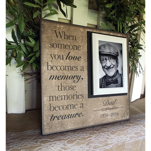 In Lieu of Flowers Idea Remembrance Picture Frame | MemoryScapes - MemoryScapes Personalized and Customized Picture Frame
