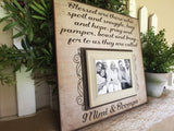 Grandparent Gift | Picture Frame Gift to Grandparents | Family Picture Frame Gift | From All The Grandchildren | Grandmother Mother's Day - MemoryScapes Personalized and Customized Picture Frame