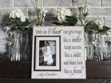 Aunt Gift | Personalized | Aunt Gifts From Kids | Aunt Picture Frame | Aunt and Niece Gifts | Best Aunt Ever Gifts | Only An Aunt Can - MemoryScapes Personalized and Customized Picture Frame