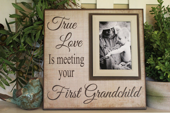 New Grandparent | Unique Gift For Grandparents | First Grandchild Frame | Grandpa Gifts | Grandmother Art Gift | New Baby | Grandfather Gift - MemoryScapes Personalized and Customized Picture Frame
