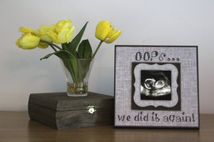 READY TO SHIP!!! Husband Second Child Pregnancy Reveal ~ Sonogram Photo ~  Picture Frame ~ Father To Be ~ Reveal to Husband ~ New Baby - MemoryScapes Personalized and Customized Picture Frame