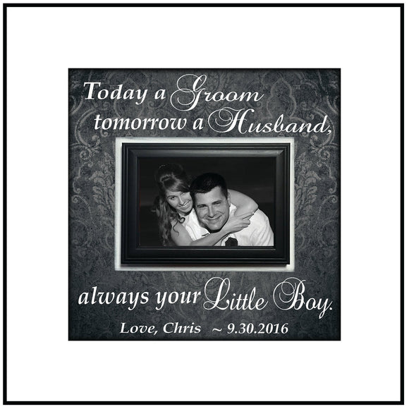 Personalized Wedding Frame ~ Custom Wedding Frame ~ Mother of the Groom Gift ~ Thank You Gift ~ Mother in Law Gift ~ Personalized Wedding - MemoryScapes Personalized and Customized Picture Frame