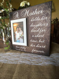 Gift for Mom ~ Personalized Photo Frame to Mother ~ Mother of the Bride ~ Frame From Daughter ~ Custom Frame for Mom ~ MOB Gift Ideas - MemoryScapes Personalized and Customized Picture Frame