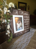 Gift for Mom ~ Personalized Photo Frame to Mother ~ Mother of the Bride ~ Frame From Daughter ~ Custom Frame for Mom ~ MOB Gift Ideas - Memory Scapes
