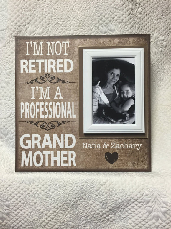 Coworker Retirement Gift ~ Retired Grandmother ~ Retirement Party Ideas ~ Retirement Gifts for Women ~ Personalized Grandmother Gift ~ - MemoryScapes Personalized and Customized Picture Frame