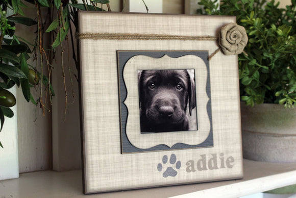 Personalized Pet Frame | Personalized Pet Picture Frame | Personalized Dog Picture Frame | Personalized Dog Sign | Furbaby | Custom Frame - MemoryScapes Personalized and Customized Picture Frame