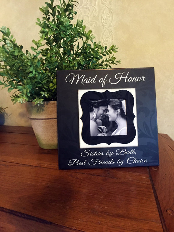 Maid of Honor Sister Gift~ Matron of Honor Present ~ Bridesmaid   Picture Frame ~ Bridal Party Gifts ~ - Memory Scapes