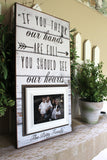 Family Portrait Picture Frame | Personalized Family Picture Frame | Farmhouse Style | Rustic Home Decor Ideas | Fixer Upper Style - MemoryScapes Personalized and Customized Picture Frame