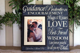 Dad Gift From Bride ~ Father of the Bride Present ~ Thank You Gift for Parents ~ Thank You Dad ~ Father Wedding Gift ~ Customized Frame - MemoryScapes Personalized and Customized Picture Frame