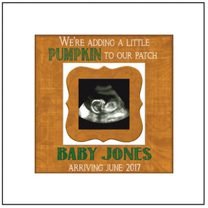 FALL PREGNANCY REVEAL idea ~ Sonogram Photo ~ Sonogram Picture Frame ~Baby Reveal Idea to Parents~ Reveal to Family ~ Fall Due Date - MemoryScapes Personalized and Customized Picture Frame
