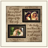 Best Friend Gift ~ Thank You Wedding Gift For Bridesmaids ~ Gift Ideas for Maid Of Honor ~ Will you be My Maid of Honor ~ Matron of Honor - MemoryScapes Personalized and Customized Picture Frame