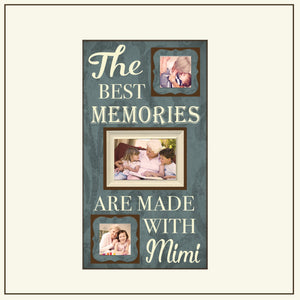 The Best Memories Are Made With Mimi Picture Frame ~Grandparents Frame ~Grandparent Gift ~Grandma Present ~Grandchildren Frames ~Photo Frame - MemoryScapes Personalized and Customized Picture Frame