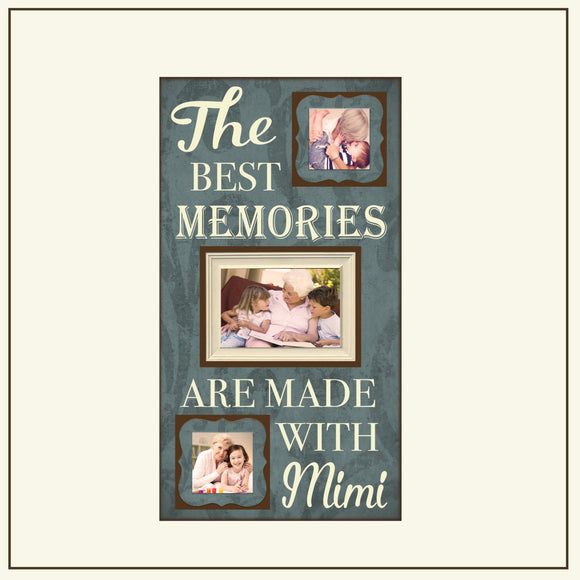 The Best Memories Are Made With Mimi Picture Frame ~Grandparents Frame ~Grandparent Gift ~Grandma Present ~Grandchildren Frames ~Photo Frame - Memory Scapes